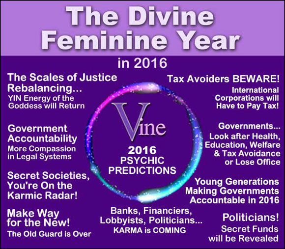 Divine Feminine Energy Prophecy for 2016